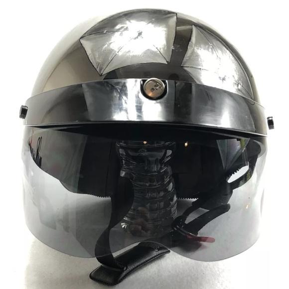 596bc799 HJC Accessories   Cruiser Motorcycle Half Helmet Black Chrome   Poshmark